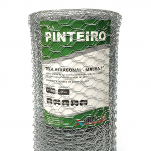 Tela Hexagonal Pinteiro 50m (Fio 22 0,71mm / Malha 2,5cm)